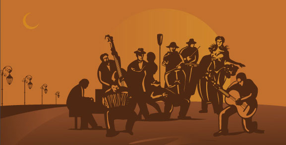 Tango orchestra Vector Packs