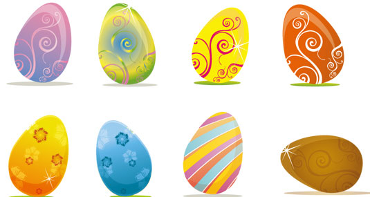 Easter Eggs Vector Design