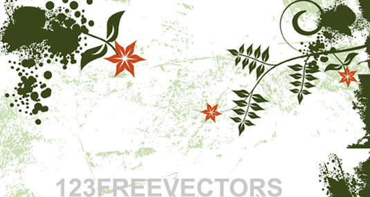 Flower Grunge Background Vector Packs