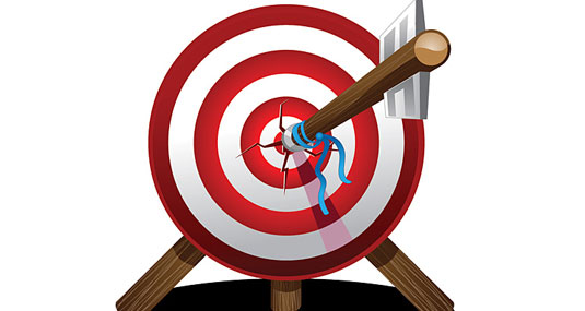 Arrow On Target Vector Design