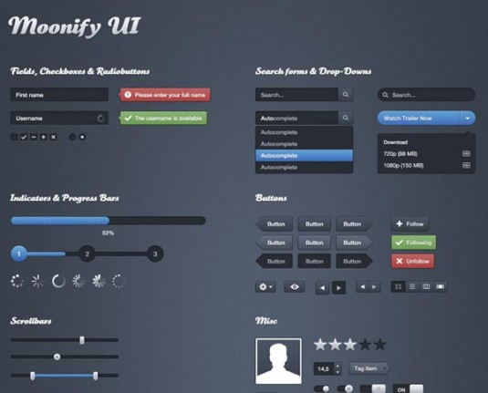 Beautiful UI Kits For Web and Graphic Designers