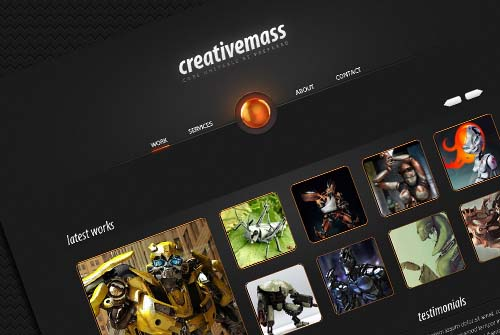 "Creative Mass"" a Stunning One-Paged Website Template"